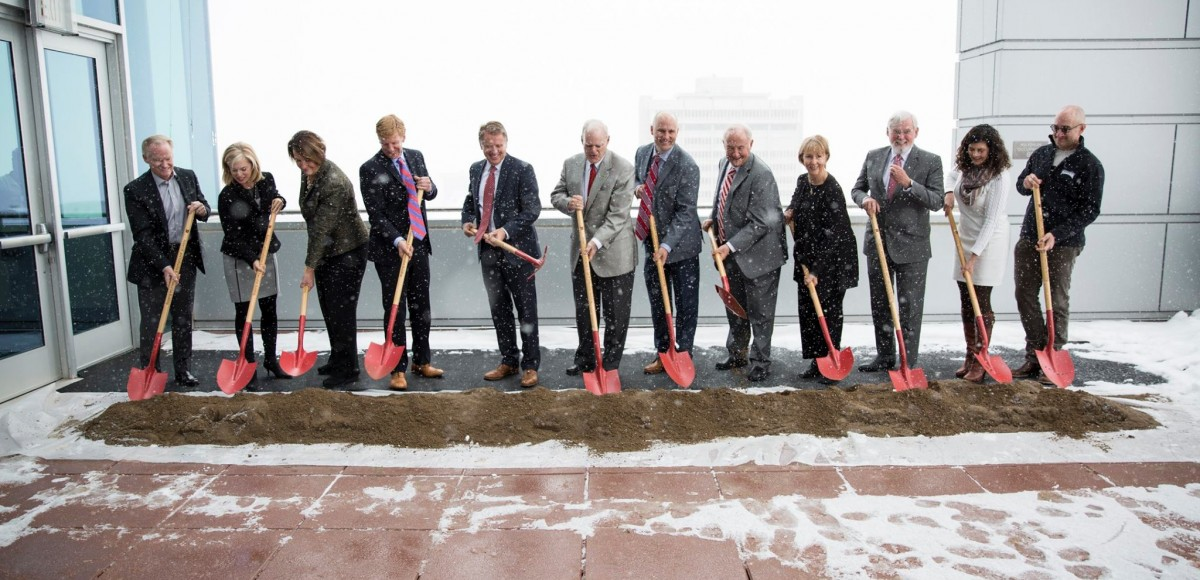 The University of Utah breaks ground on the new Robert H. and Katharine B. Garff Executive Education Building.